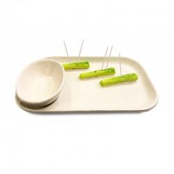 Plato de cocktail pequeño diseño de apios