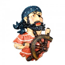 Pirata con timón mural
