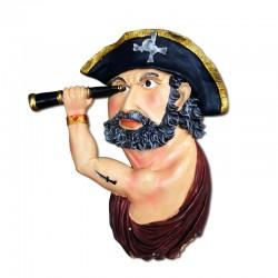 Pirata mural con catalejos