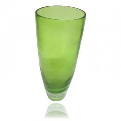 Florero ancho color verde
