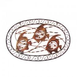 Adorno mural trío de pirañas