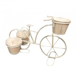 Porta maceta bicicleta triple
