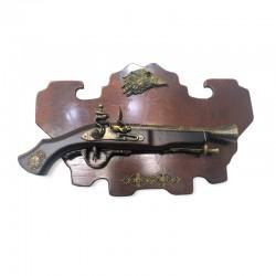 Adorno pistola antigua mural