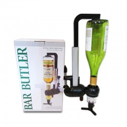 Dispensador para una botella con prensa para bar