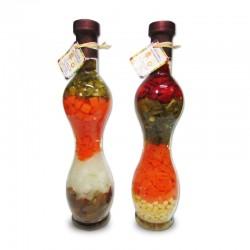Botellas curvas con mix de verduras en 2 diseños