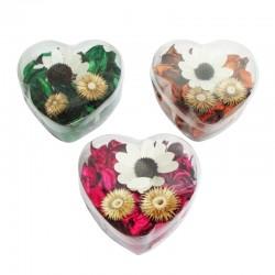 Display corazón con flores aromáticas