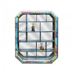 Cuadro con mini compartimientos y fondo espejado II