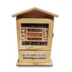 Organizador de madera con semillitas