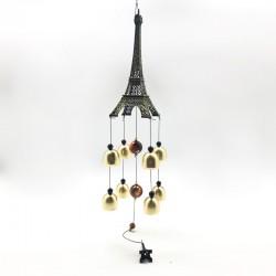 Sonajero metálico diseño Torre Eiffel III