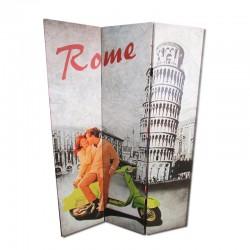 Biombo Roma y Torre de Pisa