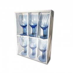 Set de 6 copas azul