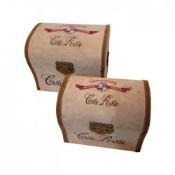 Set de 2 baúles gamuzados diseño Champagne