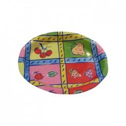 Bandeja ovalada de melamina en 6 diseños