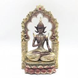 Buda meditando bajo un arco