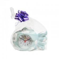 Reloj de cerámica diseño pez celeste