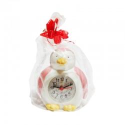 Reloj de cerámica diseño pingüino rosa