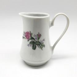 Cremero blanco con diseño de flores