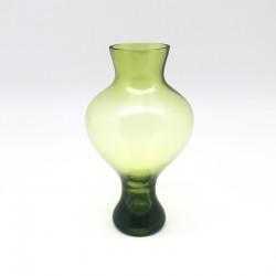 Florero circular ancho en color verde