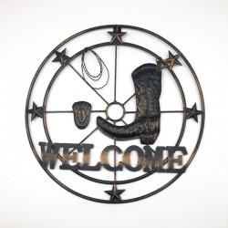 Adorno Welcome con botal mural