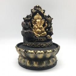 Fuente de Ganesha gold con cascada lateral