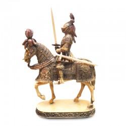 Soldado medieval a caballo