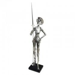 Quijote en guardia en acabado full silver