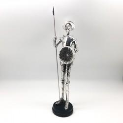 Quijote con lanza y escudo full silver