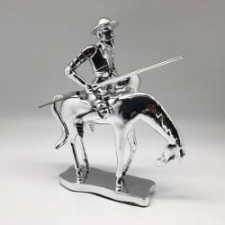 Quijote a caballo en diseño full silver