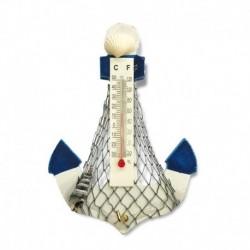 Magneto de madera diseño ancla con termómetro