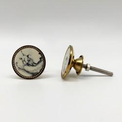 Tirador metálico gold antique con mármol