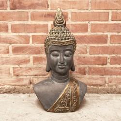 Torso de Buda oscuro con detalles gold