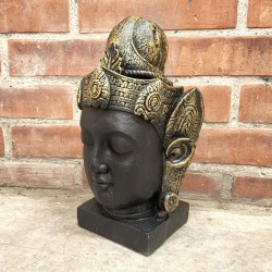 Cabeza de Buda Thai Black & Gold