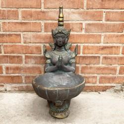 Buda Thai meditando con pileta
