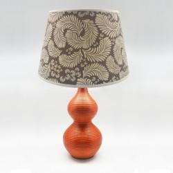 Lámpara terracota diseño de plumas