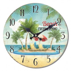Reloj Window beach oasis