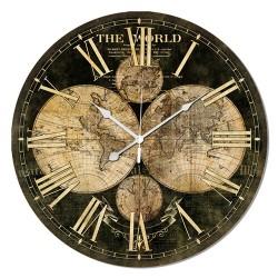 Reloj window mapa negro