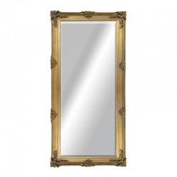 Espejo gold largo estilo Barroco diamantado