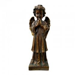 Ángel rezando de pie en color café