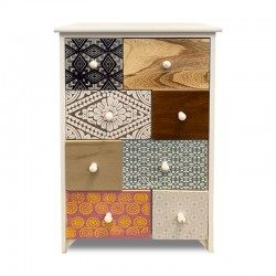 Mueble de 8 cajones con diseños estampados