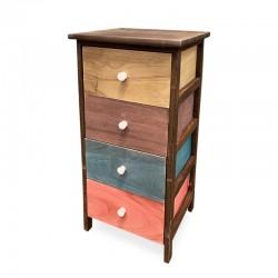 Cabinet café de 5 cajones en mix de colores