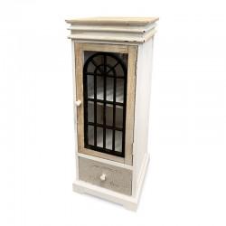 Cabinet bicolor con puerta calada