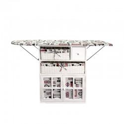 Mueble con tabla de planchar con diseño tela  London