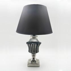 Lámpara black & white líneas