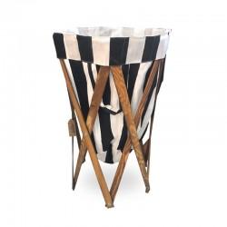 Canasto laundry plegable diseño Black & White