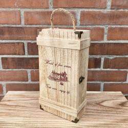 Caja de regalo para 2 botellas de vino