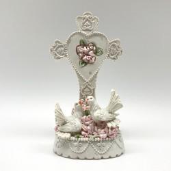 Palomas con cruz