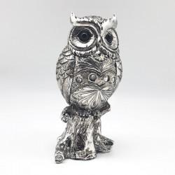 Búho silver con gemas incrustadas