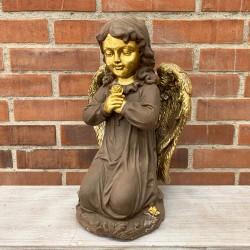 Ángel rezando en color café