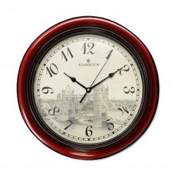 Reloj puente de Londres con borde caoba