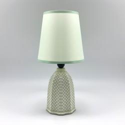 Lámpara verde con escamas